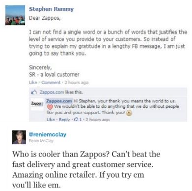 zappos social media customer service