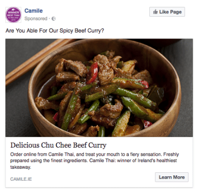 Camile Thai Fb Ad