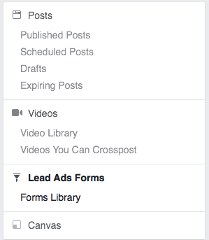 export facebook leads