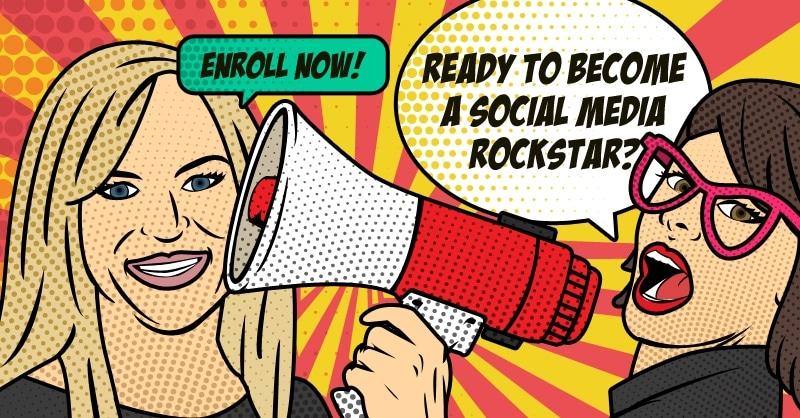blended learning course social media