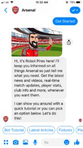 Arsenal FC chatbot