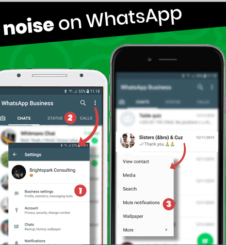 whatsapp noise reduction
